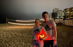 glowing volleyball