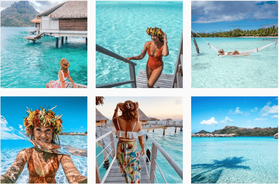 Instagram feed for hotel influencer Travel is the Cure